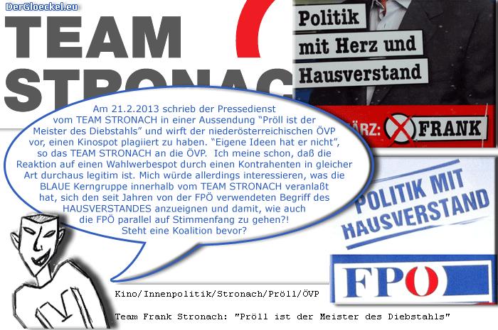 Wahlwerbung vom Team Stronach und der FPÖ | Graphik: DerGloeckel.eu