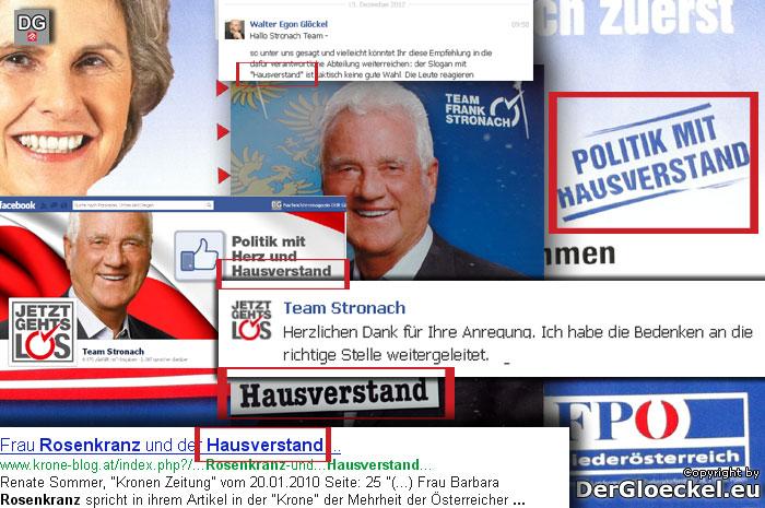 Team Stronach mit FPÖ Wahlslogan unterwegs