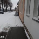 keine Schneeräumung in der Kriemhildengasse 13 in Hainburg