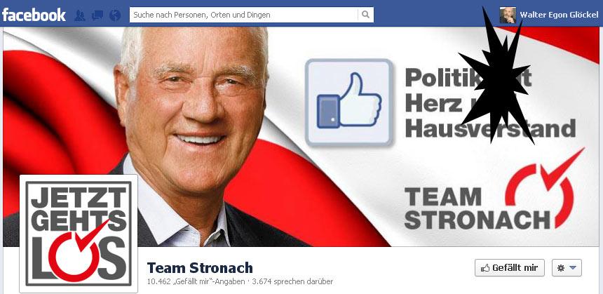 kritischer Journalist vom Team Stronach auf Facebook ausgesperrt | Graphik: DerGloeckel.eu