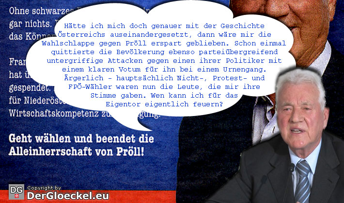 Frank im Selbstgespräch nach der Wahlschlappe gegen Pröll