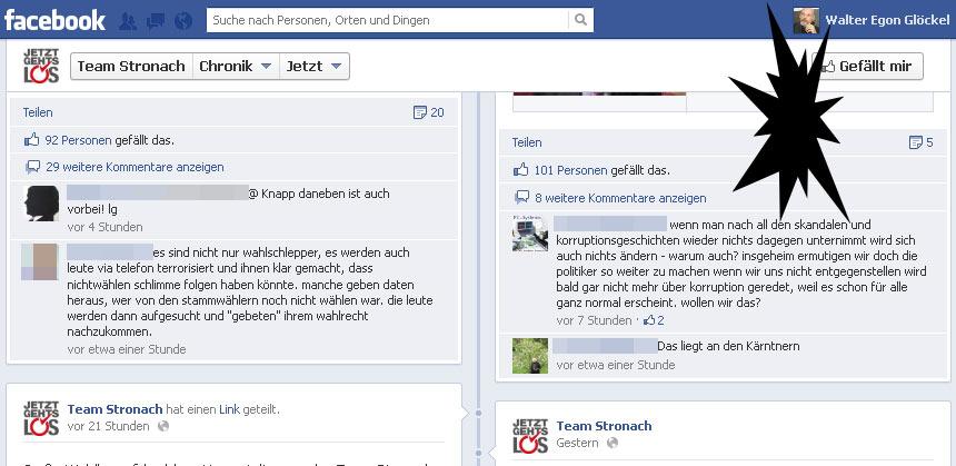 Kritik zu Team Stronach auf Facebook wird nicht zugelassen