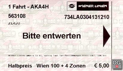 VOR-Fahrkarte | Faksimile: DerGloeckel.eu