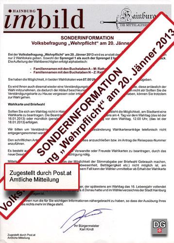 Informationsblatt - Volksbefragung zur Wehrpflicht | Graphik: DerGloeckel.eu