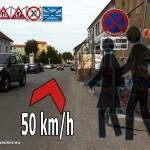 große Unfallgefahr am Schulweg in Hainburg | Graphik: DerGloeckel.eu
