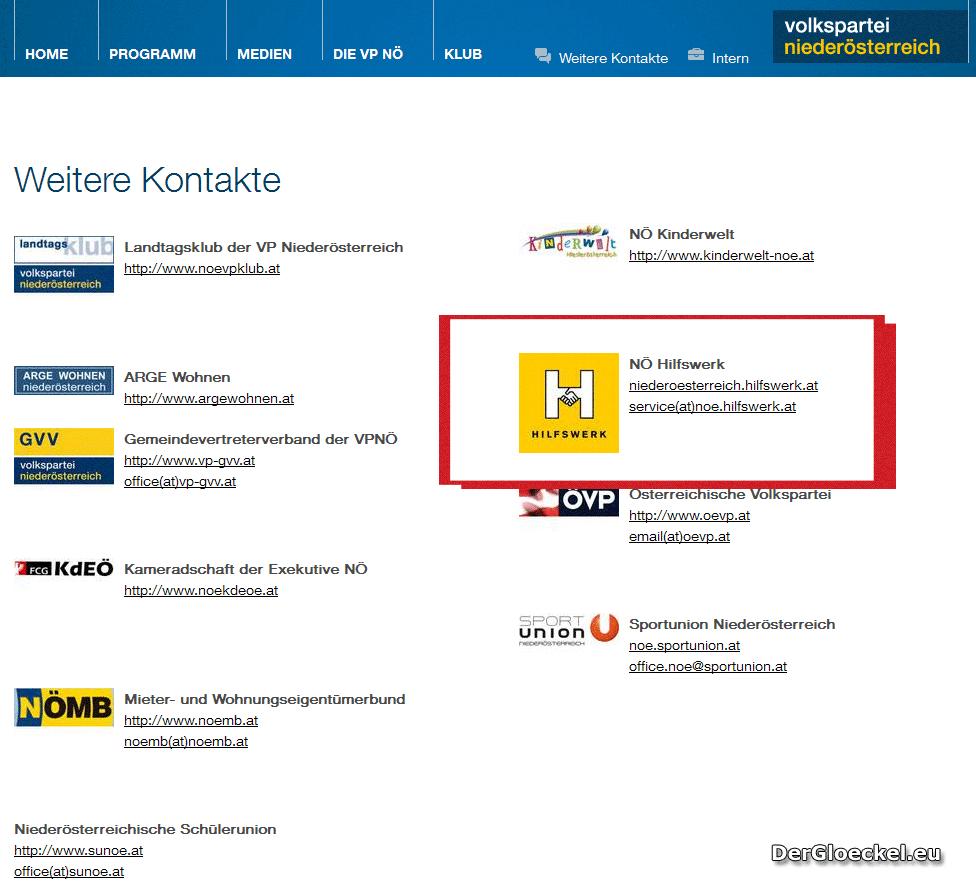 Hilfswerk und ÖVP | Graphik: DerGloeckel.eu