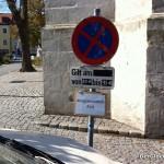 Privatparkplatz für einen 70-jährigen Internisten am Hauptplatz in Hainburg | Foto: DerGloeckel.eu