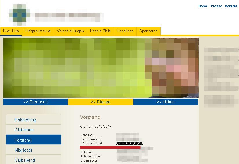 Vizepräsident einer karitativen Vereinigung | Screenshot: DerGloeckel.eu