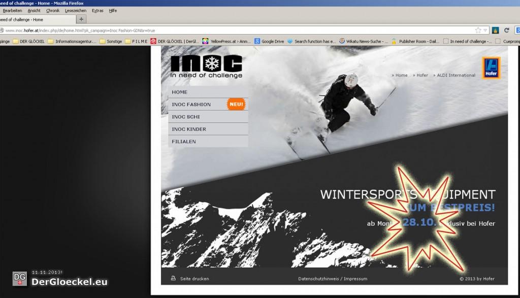 die Sonderangebote zu der die Werbung auf Google führt | Screenshot: DerGloeckel.eu