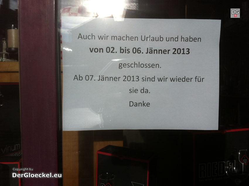 Urlaubsankündigung zum Jahreswechsel 2014 | Foto: DerGloeckel.eu