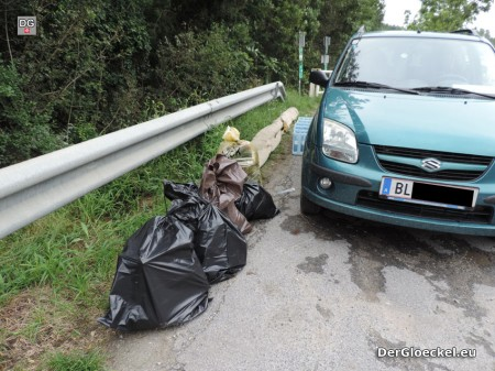 80,5kg eingesammelte Abfälle aus dem Nationalpark Donau Auen der NÖ Berg- und Naturwacht Hainburg